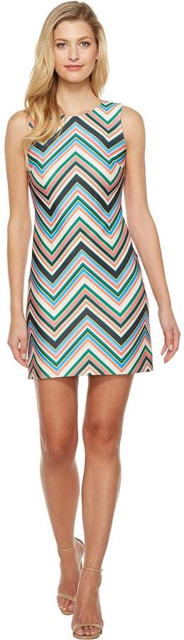 Taylor Chevron Print Sleeveless Shift Dress