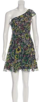 Armani Exchange Silk One Shoulder Dress