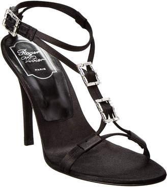 Roger Vivier Satin Ankle Strap Sandal