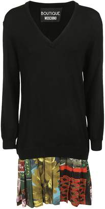 Moschino Pleated Hem Sweater Dress