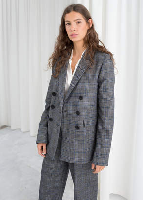And other stories Wool Blend Plaid Blazer