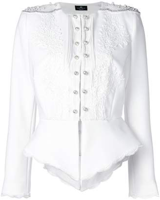 Elisabetta Franchi embroidered fitted jacket