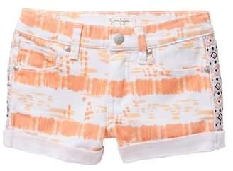 Jessica Simpson Tie Dye Rolled Cuff Shorts (Little Girls)
