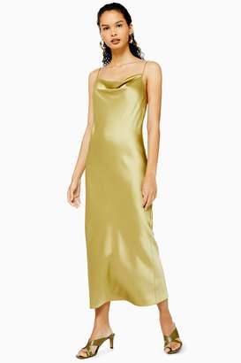 Topshop TALL Khaki Slip Maxi Dress