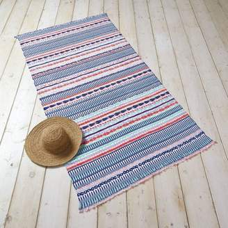 Better Homes & Gardens Better Homes and Gardens Geo Stripe with Fringe Beach Towel