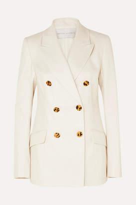 Rebecca Vallance Taylor Linen And Cotton-blend Blazer - Ivory