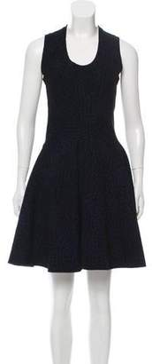 Alaia Patterned Fit & Flare Dress w/ Tags