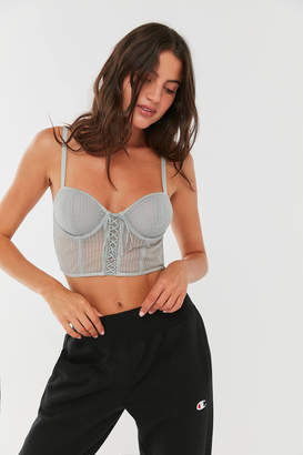 Out From Under Daydreams Sheer Lace-Up Bra Top