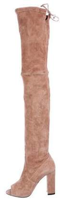 Jean-Michel Cazabat Suede Over-The- Knee Boots