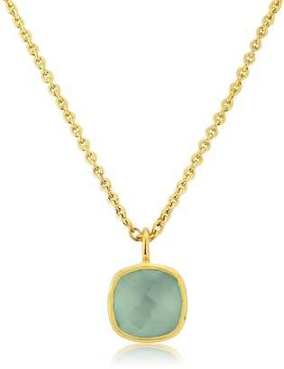 Auree Jewellery - Brooklyn Gold Vermeil & Aqua Chalcedony Necklace