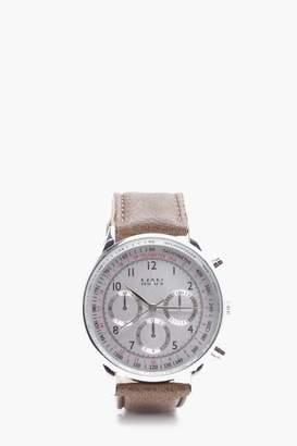 boohoo Smart Brushed Tone Watch