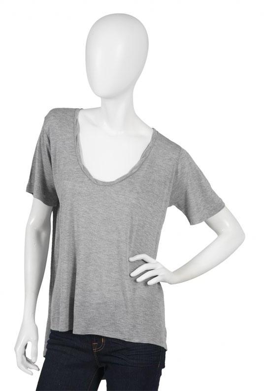 Jet by John Eshaya V Neck Snap in Gray and Charcoal