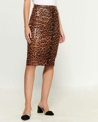 Gracia Leopard Pencil Skirt