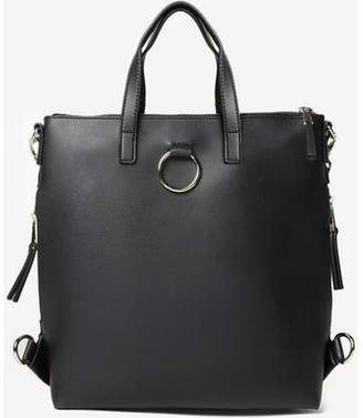 Dorothy Perkins Womens Black Zip Side Backpack