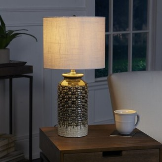 "Brayden Studio Phil Etched Ceramic 21.25"" Table Lamp Brayden Studio"