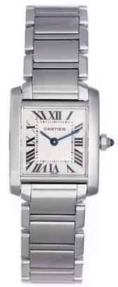 Cartier Tank Francaise W51008Q3 Stainless Steel White Dial Quartz 20mm Womens Watch