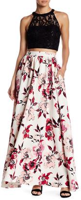 Speechless Lace Blouse & Floral Skirt 2-Piece Set (Juniors) $99 thestylecure.com