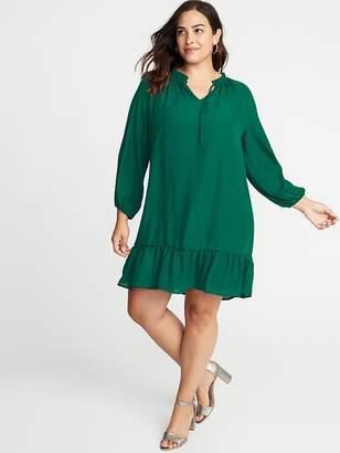 Old Navy Ruffle-Trim Plus-Size Georgette Swing Dress