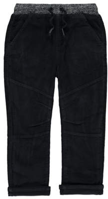 George Charcoal Lined Corduroy Trousers