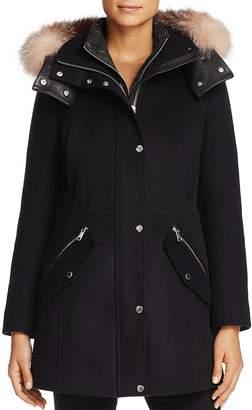 Andrew Marc Brynn Fox Fur Trim Coat
