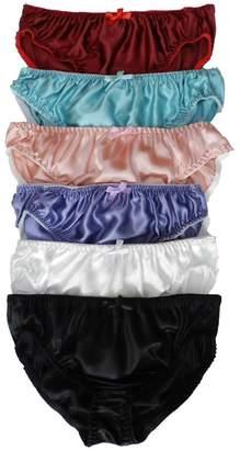 701b47fac4 Panasilk 6PCS 100% Silk Women Bikini Panties Size S M L XL 2XL  (Multicoloured) (