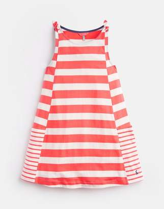 31a96d84485d Joules Pink Cream Stripe Madeline Jersey Tie Dress 3-12 Yr Size 6Yr