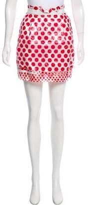 Dolce & Gabbana Pleated Polka Dot Print Skirt
