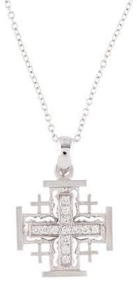 Reiss I. 14K Diamond 'Jerusalem' Cross Pendant Necklace