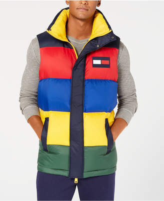 Tommy Hilfiger Men's Oversized Colorblocked Down Puffer Vest