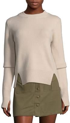 Tibi Women's Cashmere Crewneck Pullover