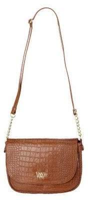 Croco Wendy Williams Embossed Leather Crossbody Bag