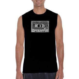 LOS ANGELES POP ART Los Angeles 80 s Sleeveless Word Art T-Shirt- Men's Big and Tall