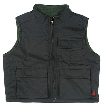 Woolrich Kids - Trail Vest (Toddler/Little Kids) (Navy/Olive Berber)