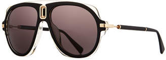 Balmain Acetate Aviator Sunglasses