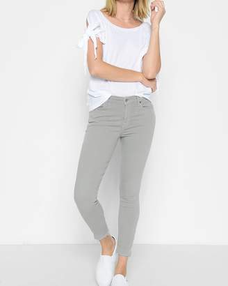 7 For All Mankind Ankle Skinny with Released Hem in Agave