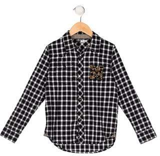 Molo Boys' Patch Flannel Shirt