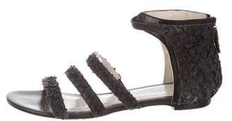 Jason Wu Leather Round-Toe Sandals