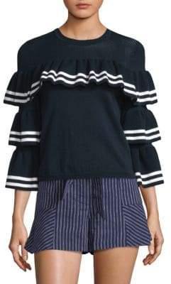 Parker Rhonda Ruffle Sweater