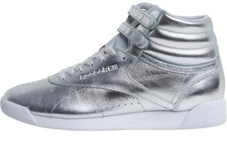 5025c2d88b14 Reebok Classics Womens Freestyle Hi Metallic Trainers Silver Metallic  Steel White