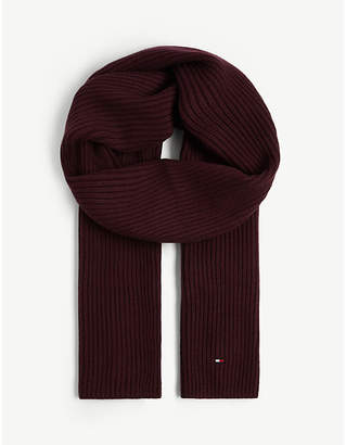 Tommy Hilfiger Ribbed pima cotton and cashmere scarf