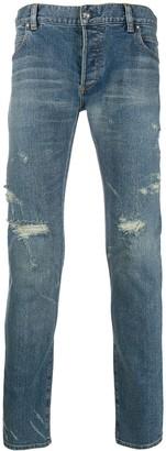 Balmain ripped skinny fit denim jeans