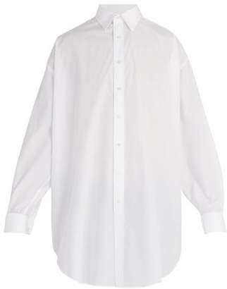 Alexander McQueen Oversized Cotton Shirt - Mens - White