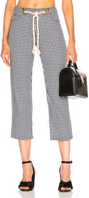Miaou Tommy Pant with Rope Belt in Gingham | FWRD
