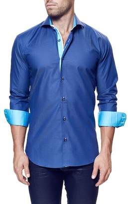 Maceoo Wall Street Long Sleeve Trim Fit Shirt (Big & Tall Available) $169 thestylecure.com
