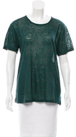 Alexander Wang T by Alexander Wang Striped Linen T-Shirt