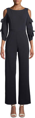 Donna Morgan Tie-Sleeve Jumpsuit