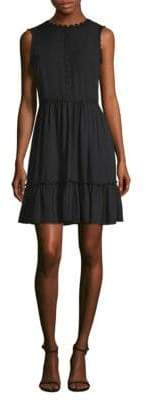 Kate Spade Floral Lace-Trimmed Mini Fit-&-Flare Dress