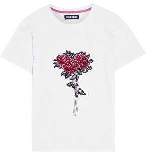 House of Holland Embroidered Cotton-Jersey T-Shirt