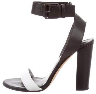 Vince Leather Ankle Strap Sandals