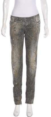 DSQUARED2 Embellished Low-Rise Jeans